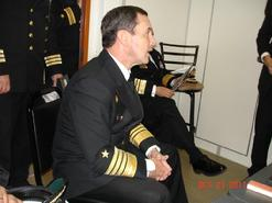 Visit of Admiral Admiral Edmundo González Robles, Commander-in-Chief of the Chilean Navy, and Vice Admiral Enrique Larrañaga, Director General of Maritime Territory and Merchant Marine to the Westport GRC43m Composite Patrol Vessel Series in Newport, Rhode Island, USA.